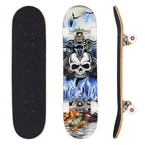OUTCAMER 79 cm Skateboard, Anfänger Skateboards für Kinder und Erwachsene geeignet, Komplett montiertes...