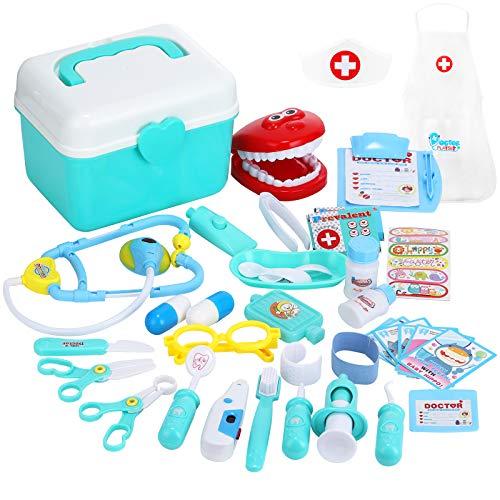 joylink Arzt Spielzeug, 33 Teile Arztkoffer Medizinisches Spielzeug Kinder Dentist Doktor Set...