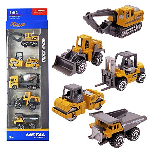 Vanplay Mini Auto Spielzeug Baufahrzeuge Kinder Bagger Metall Modell LKW Set für Kinder 3 4 5 Jahre...
