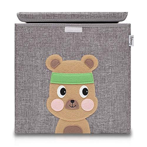 Lifeney Aufbewahrungsbox Kinder mit Deckel I Niedliche Spielzeugkiste I Aufbewahrungsboxen für...