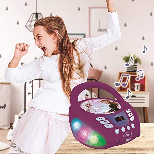 Lexibook RCD109FZ Disney Frozen 2-Bluetooth CD Player für Kinder - Tragbar, Multicolor Lichteffekte,...