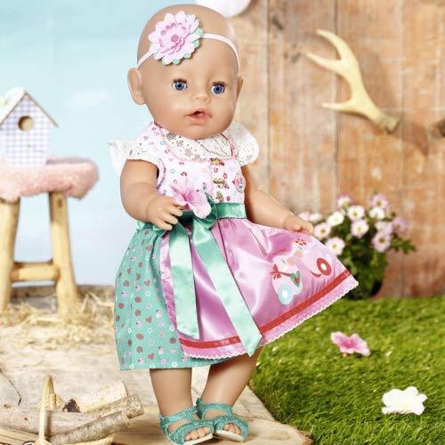 Zapf Creation 828748 BABY born Dirndl Puppenkleidung für besondere Anlässe und Feste, 43 cm, 5-teiliges...