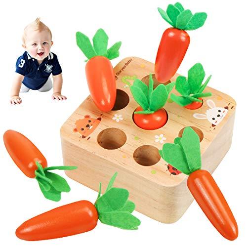 O-Kinee Karotte Spielzeug, Holzspielzeug, Karottenernte Montessori, Karottenspiel, Lernspielzeu,...