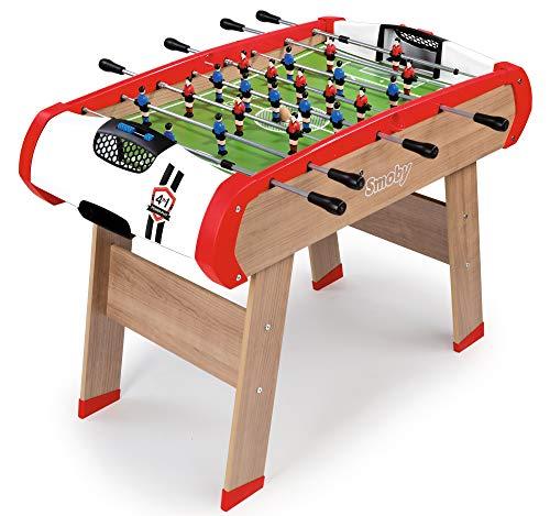 Smoby 640001 - Multifunktions Tischfußball Powerplay 4-in-1 - Wandelbarer Spieltisch, Tischfußball,...