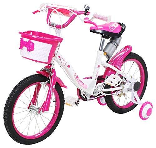 Actionbikes Kinderfahrrad Daisy - 16 Zoll – V-Break Bremse vorne - Stützräder - Luftbereifung - Ab...