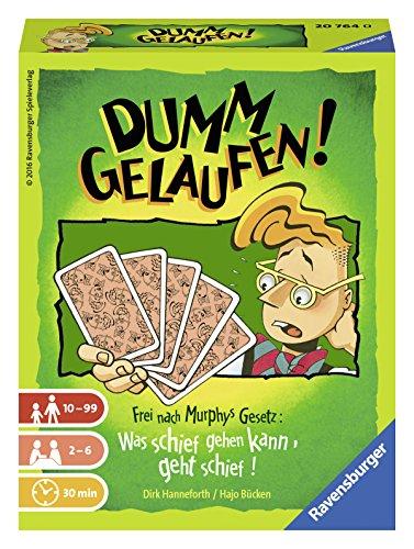 Ravensburger 20764 - Dumm gelaufen! Kartenspiel für 2-6 Spieler, fiktiver Mitspieler, Unterhaltung ab 10...