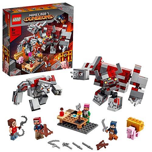 LEGO 21163 Minecraft Das Redstone-Kräftemessen Set mit Figuren: Golem und Monster, Spielzeug für Kinder...