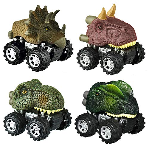 SOKY Geschenke für Jungen ab 3-8, Dinosaurier ziehen Autos zurück Spielzeug für Jungen ab 3-8 Jahre...