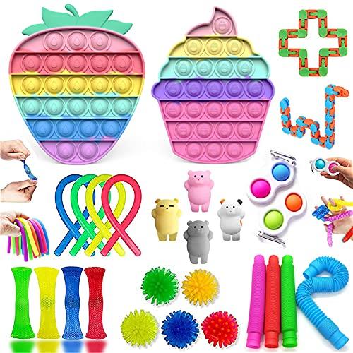 Fidget Toy, Simple Fidget Toy Anti Stress Spielzeug Set, Fidget Toy Set Box für Stress und Angst...