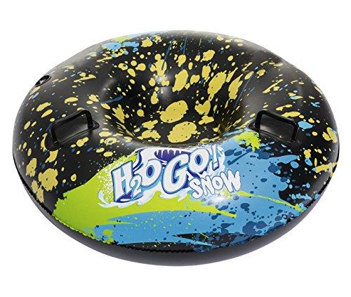 Bestway H2OGO! Snow Frostblitz, aufblasbarer Schlitten im leichten & platzsparenden Design, 99x99x35 cm