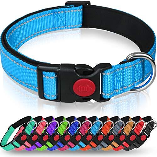 Taglory Hundehalsband, Weich Gepolstertes Neopren Nylon Hunde Halsband für Mittlere Hunde, Verstellbare...