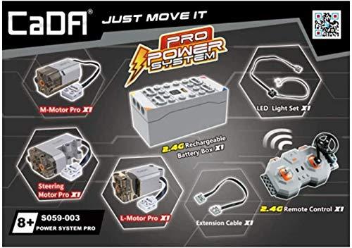 CADA Technik Hochleistungsversion des technischen Kfz-Funktionskits mit 3 Motoren, LEDs, Batteriekasten...