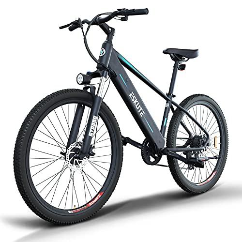 ESKUTE E-Bike E Mountainbike 27,5 Zoll Pedelec,Voyager' Elektrofahrrad mit 48V 10Ah versteckte...