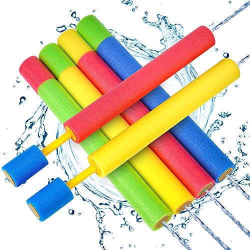 Wasserpistole Spielzeug Kinder Set 6 Stück Pool Wasserspritzpistolen mit Reichweite 35 Feet Sommer...