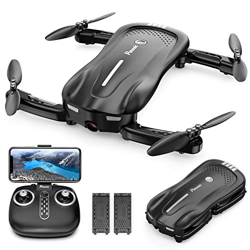 Potensic Faltbare Drohne mit Kamera, 1080P Mini Drohne WiFi FPV Quadrocopter mit Optischem Fluss und Zwei...