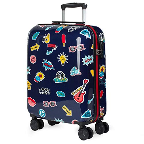 ITACA - kinderkoffer Reisekoffer für Kinder Jugend Starre und leichte Flugzeugkabine mit 4 Rädern. für...