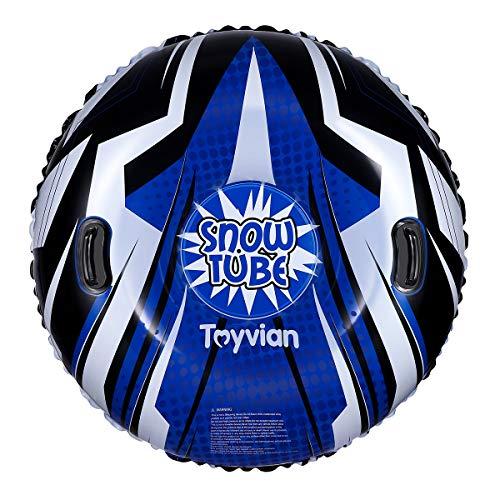 Toyvian Snow Tube, Super 120CM aufblasbarer Schneeschlitten für Kinder und Erwachsene, Dicker...
