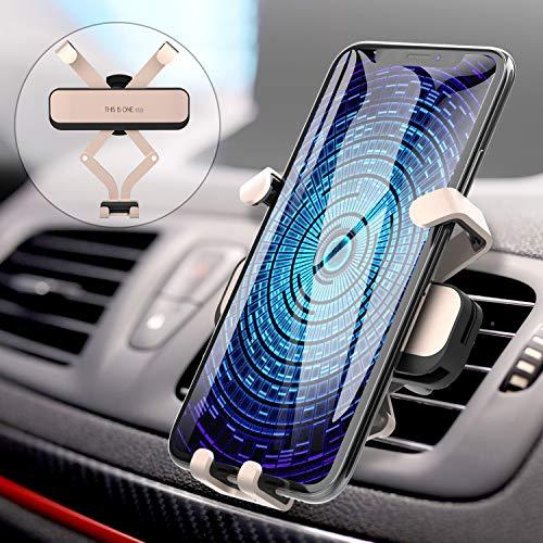 AUCHIKU Handyhalterung Auto,Handy Halterung Schwerkraft Lüftung Handyhalter fürs Auto Kratzschutz Auto...