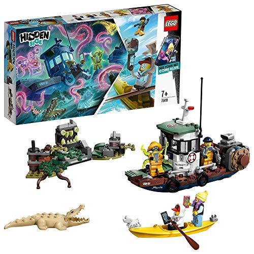 LEGO Hidden Side 70419 Zerstörtes Garnelenboot, Spielzeug für Kinder mit Augmented Reality Funktionen