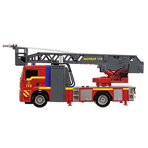 Dickie 203715001 Toys City Fire Engine, Feuerwehrauto mit manueller Wasserspritze, Feuerwehr,...