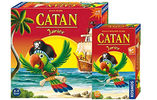 Kosmos 697495 - Catan Junior, Strategiespiel für Kinder ab 6 Jahren + Catan Junior Mitbringspiel,...