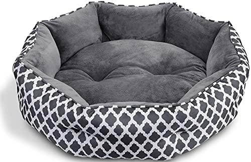 CatRomance Hundebett Katzenbett Weiches und Warmes Haustierbett, Flauschiges und Waschbares Hundesofa mit...