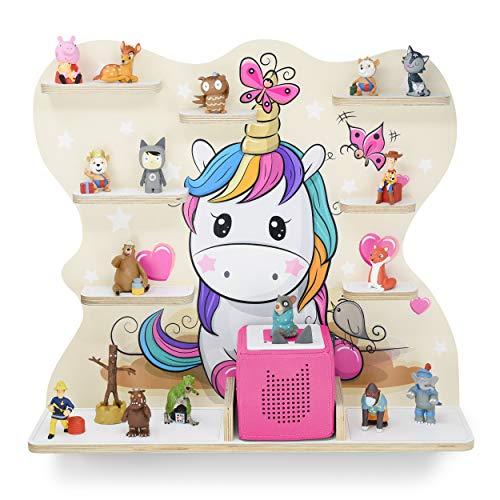 Kinder Regal für Musikbox I Motiv Pony I Geeignet für die Toniebox und ca. 45 Tonies I Geschenk I...