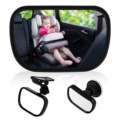 TedGem Rücksitzspiegel, Baby Kinder Rückspiegel, Rücksitzspiegel Baby, Rücksitzspiegel für Babys...