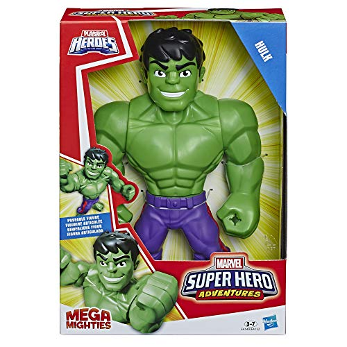 Marvel Playskool E4149ES0 Heroes Super Hero Adventures Mega Mighties Hulk, 25 cm große Actionfigur