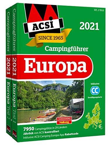 ACSI Internationaler Campingführer Europa 2021: in 2 Bänden inkl. Ermässigungskarte und ACSI Camping...