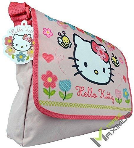 HELLO KITTY Schultertasche / Umhängetasche Kindertasche für Mädchen mit Klettverschluss / rosa /...