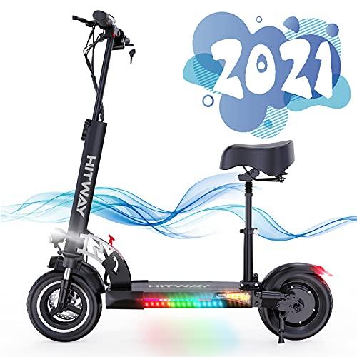 SOUTHERN WOLF Elektro Scooter mit 800W Motor Max. 40-43km/h 10Ah Erwachsen, Elektroscooter mit Sitz...