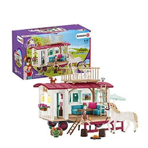 Schleich 42415 Horse Club Spielset - Wohnwagen für geheime Club-Treffen, Spielzeug ab 5 Jahren