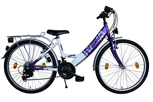 Delta Harmonia 26 Zoll Fahrrad 18 Gang Shimano Kettenschaltung StVZO Lila mit ALUFELGEN