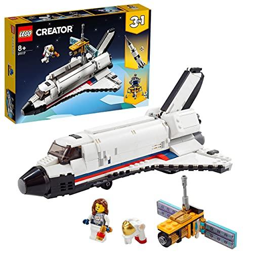 LEGO 31117 Creator 3 in 1 Spaceshuttle-Abenteuer Weltraum Spielzeug für Kinder ab 8 Jahre mit...