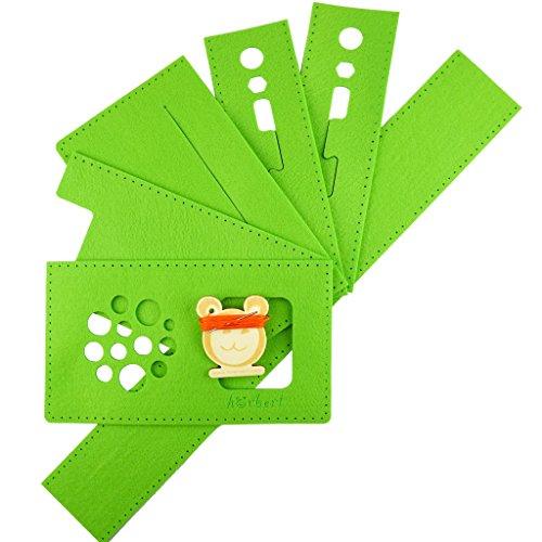 Filztaschen-Nähset für hörbert, den MP3-Player für Kinder aus Holz. (grün)