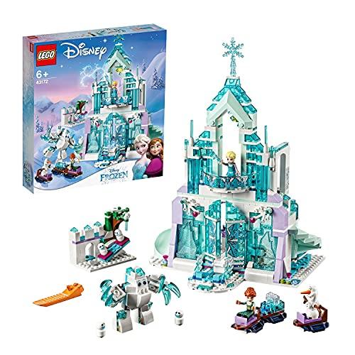 LEGO 43172 Disney Princess Die Eiskönigin Elsas magischer Eispalast, Frozen Schloss, Spielzeug mit ELSA...