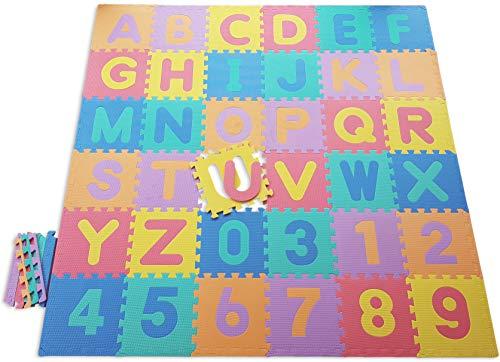 Happykiddoos ABC/123 Mehrfarbig Schaumstoff Puzzle spielmatten. Alphabet und Zahlen. 121 TLG. Inkl....