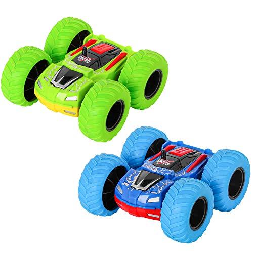 m zimoon Zurückziehen Auto, Trägheit Monster Truck Spielzeugautos Doppelseitige Reibungsbetriebene...