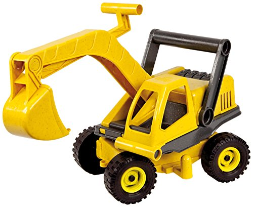 Lena 4211 EcoActives Bagger, Baustellenfahrzeug ca. 35 cm, robuster Schaufelbagger, natürlicher...