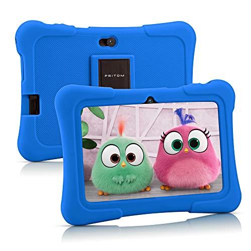 Pritom Kindertablett 7 Zoll Android 10, Tablet Kinder, 16 GB ROM, WLAN, Elternsteuerung, Spiele,...