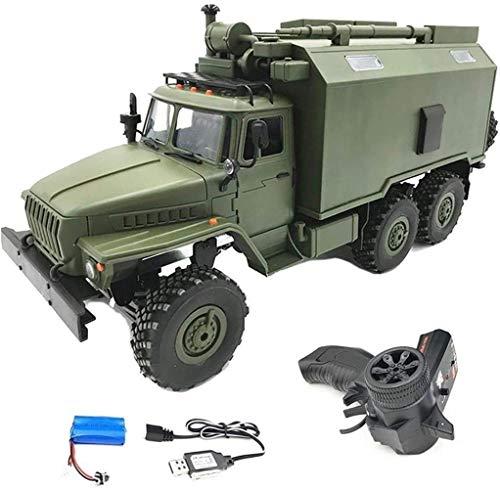 1yess Modell 2.4G RC LKW Spielzeug Auto, 1/16 Simulation 6 Radantrieb Rock Heavy Duty Metall BAU Truck,...