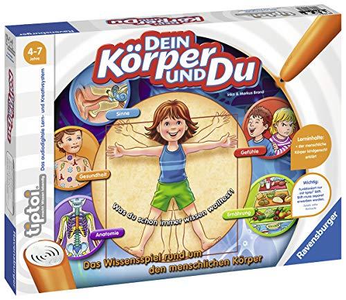 Ravensburger tiptoi Spiel 00560 Dein Körper und Du - Lernspiel von Ravensburger ab 4 Jahren für 1-4...