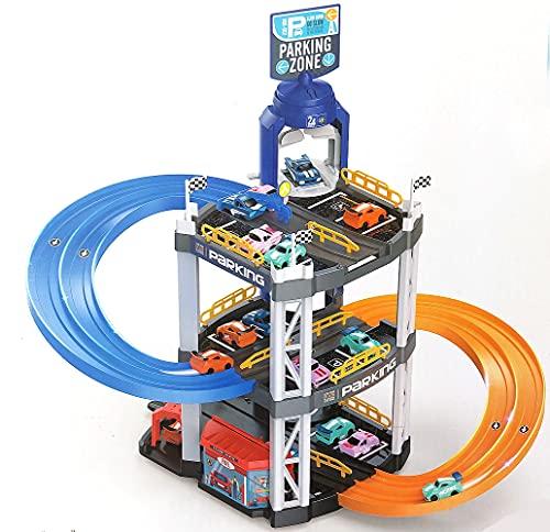 Spielzeug Rennbahn Parkhaus inkl. 2 x Spielzeugauto