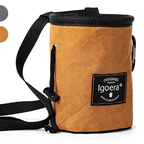 Igoera Chalkbag zum Klettern und Bouldern | spezielles Innenfutter für perfekte Chalk-Verteilung |...