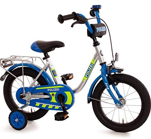 Bachtenkirch Kinderfahrrad 14 Zoll mit Stützräder und Rücktrittbremse Jungen Mädchen Fahrrad für...