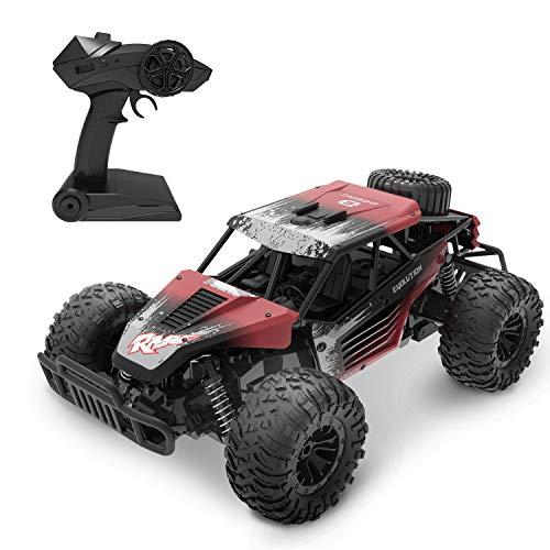 DEERC RC Ferngesteuertes Auto DE37 Wasserdicht Car 1:16 Spielzeug mit 2,4 Ghz Fernbedienung,Lange...