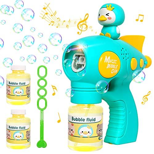 Luclay Seifenblasenmaschine, Kinder Seifenblasenpistole Mädchen Geschenk 3 4 5 6 7 8 Jahre, Seifenblasen...