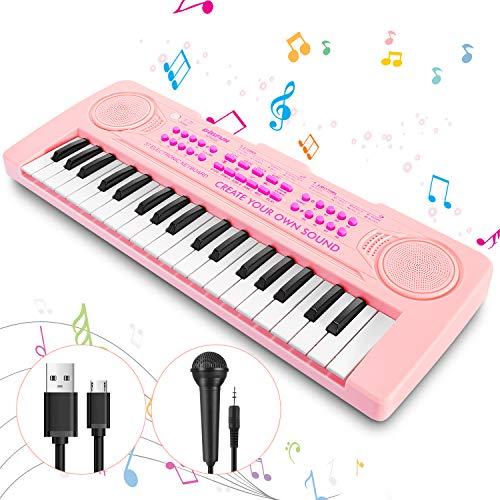 Magicfun Klavier Keyboard Spielzeug für Kinder, 37 Minitasten Piano Keyboard, Musikspielzeug mit...