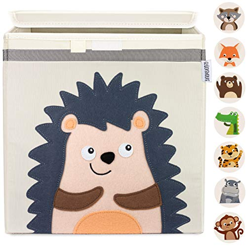 GLÜCKSWOLKE Kinder Aufbewahrungsbox - 10 Motive I Spielzeugkiste mit Deckel für Kinderzimmer I...